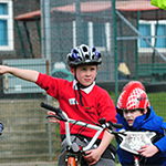 Signposting after Bikeability Training.