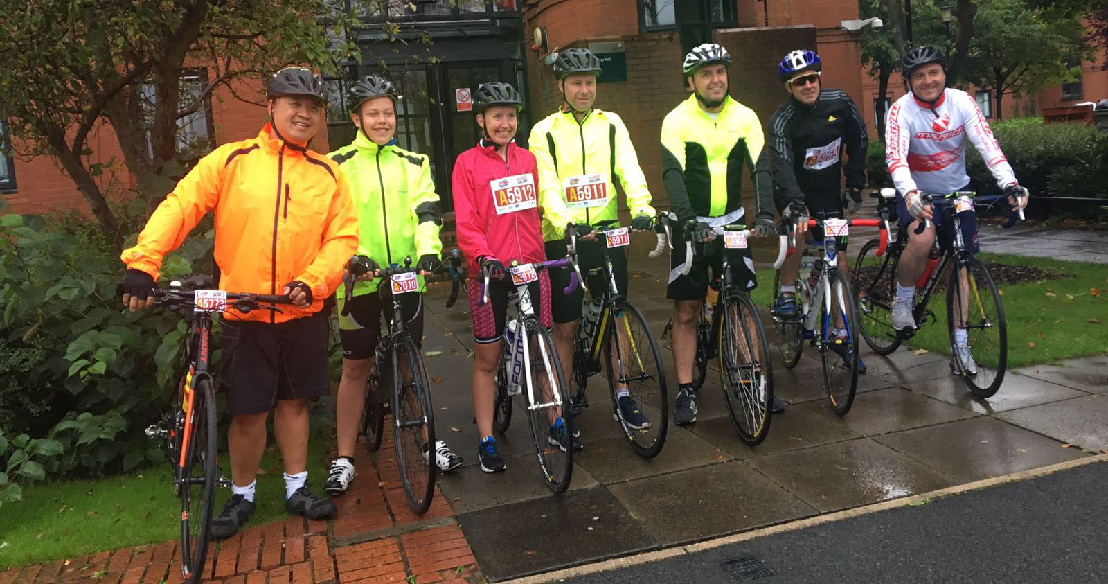 Edward Chan training for Pedal for Scotland with his friends.