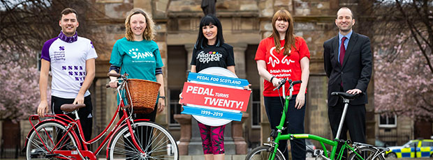 Pedal for Scotland 2019 Launch - Targets Fundraising Record