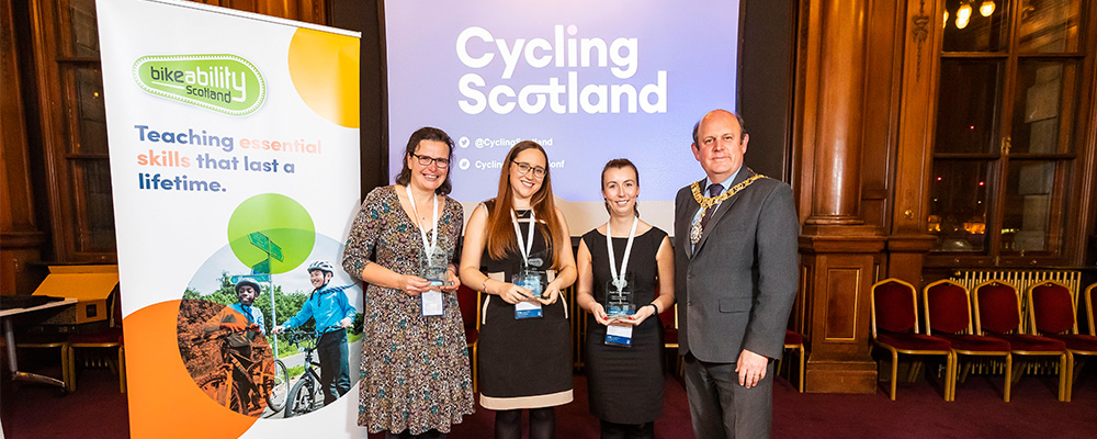 Bikeability Scotland awards those who went the extra mile