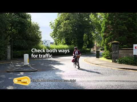 2.14 Bikeability Scotland Level 2 - Single-Lane Roundabout Turn Right