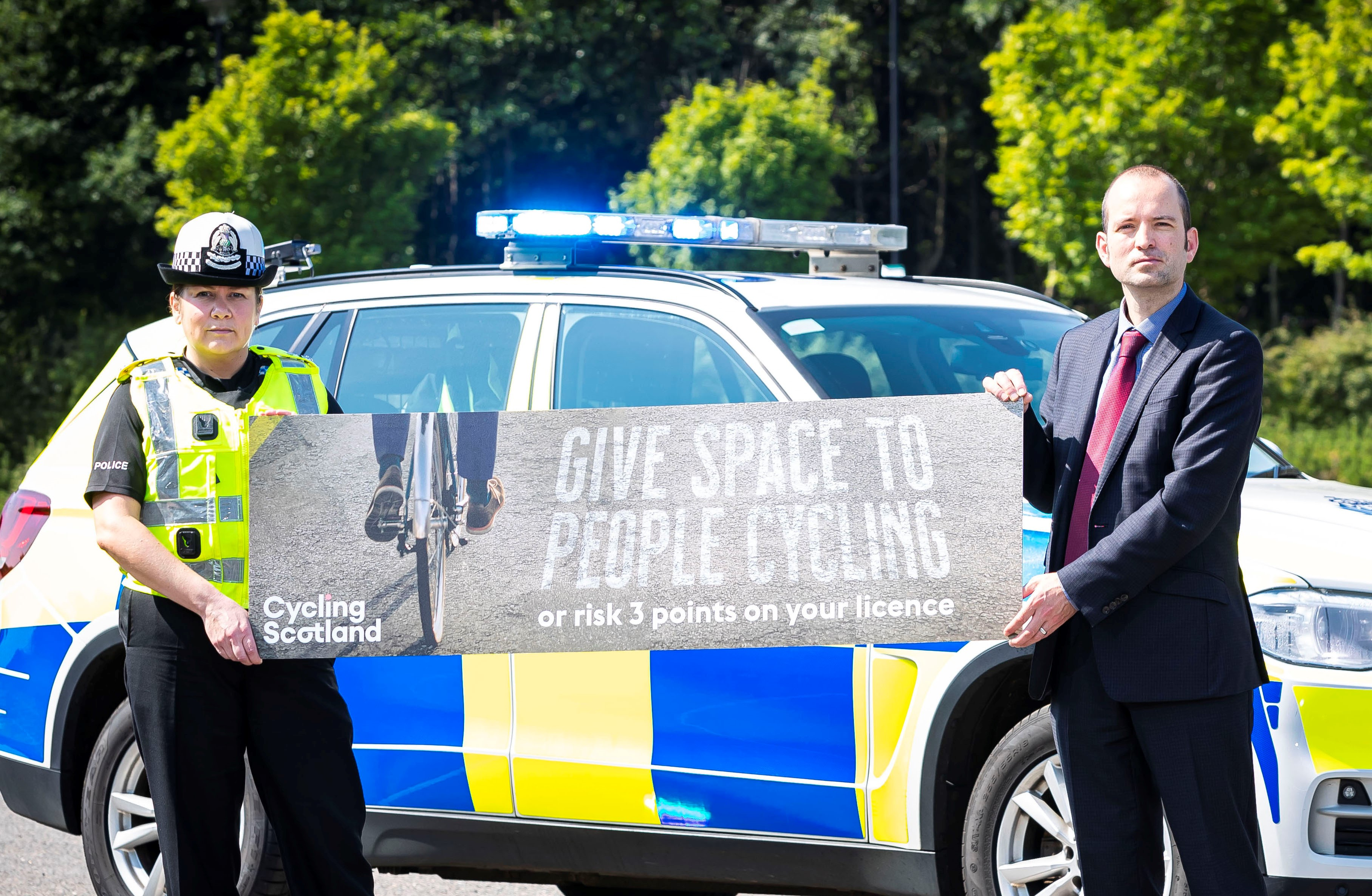 Give Cycle Space 2020 - Louise Blakelock Head of Road Policing and Keith Irving Chief Executive Cycling Scotland